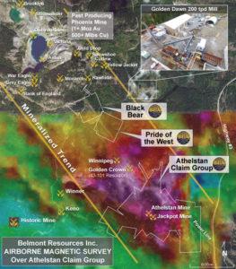 Airborne Mag over Athelstan-Jackpot Mine