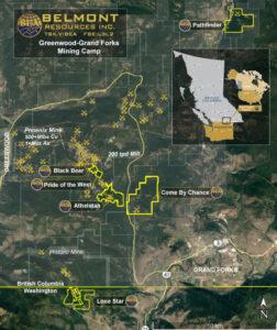 Belmont Resources B.C. Properties Map