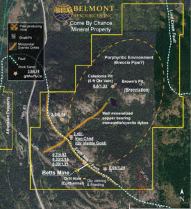 Belmont Resources Come By Chance Property Map