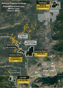 Belmont Resources-Properties-Map