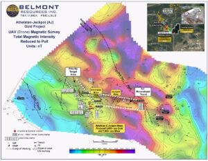 Belmont Resources AJ Property UAV High Resolution Magnetics