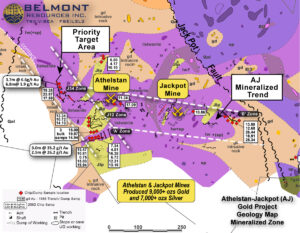 Belmont Resources AJ Property -Geology-mineralized-area