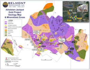Belmont Resources AJ Property Geology-Map