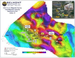 Belmont Resources AJ Property Magnetic Survey