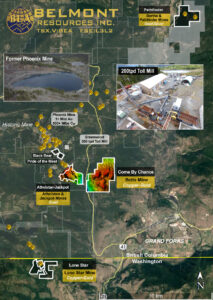 Belmont Resources -Properties-Map