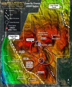 Belmont Resources CBC property LIDAR survey
