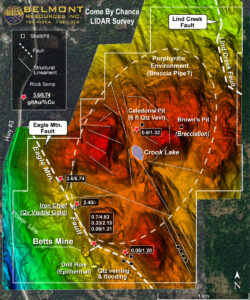Belmont Resources CBC property -LIDAR Survey