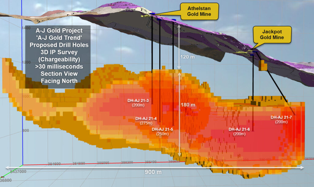 Belmont Resources A-J Gold Project Proposed Drill Holes