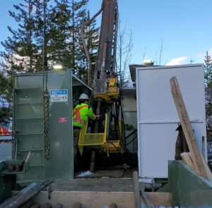 Drillers on Belmont Resources AJ gold project