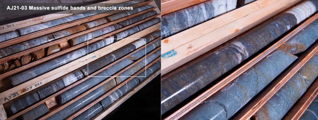 Belmont AJ Gold Project AJ21-03 drill core