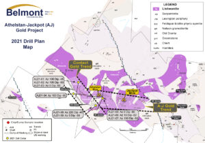 Belmont Resources AJ Gold Project 2021 Drill Plan