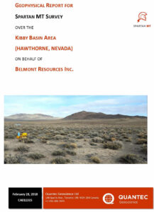 Belmont Kibby Basin MT Survey