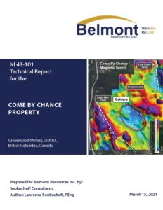 Belmont Files 43-101 Tech Report on Come By Chance Copper-Gold Project