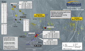 A-J Gold Project 2021 drilling plan map