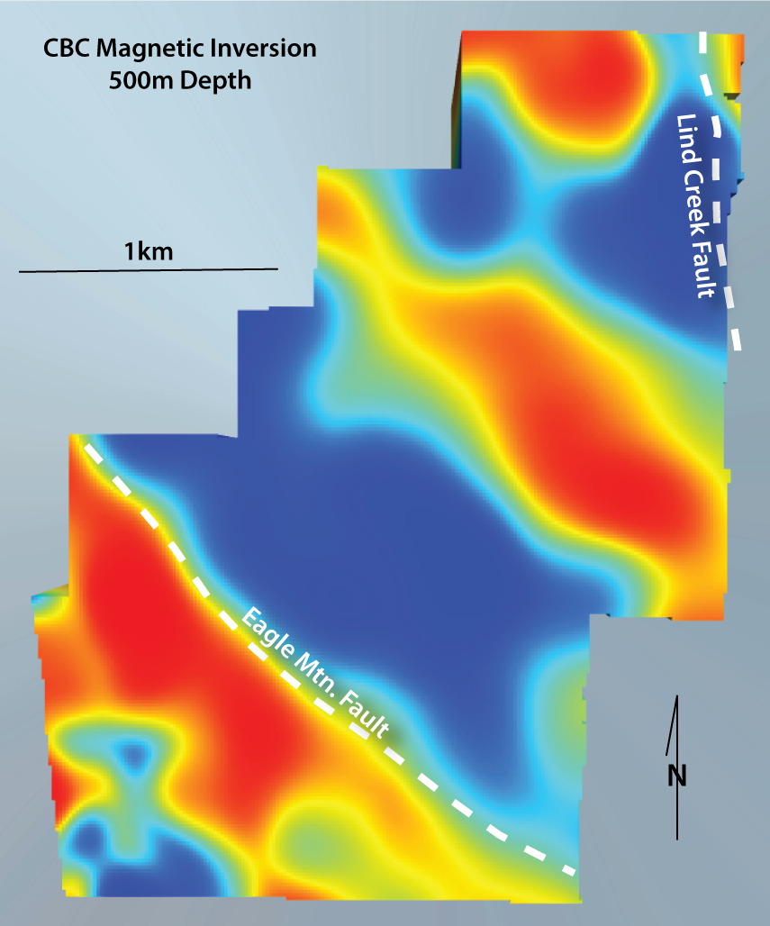 CBC-Mag-500m-depth Section