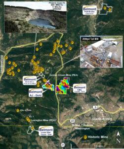 Belmont Resources Properties Map